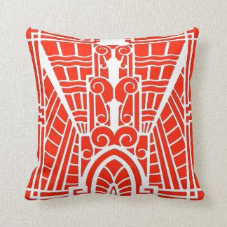 Almofada Teste padrão arquitectónico de Deco, tanjerina