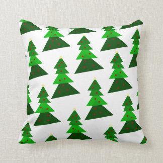 Almofada Teste padrão doméstico da árvore de Natal