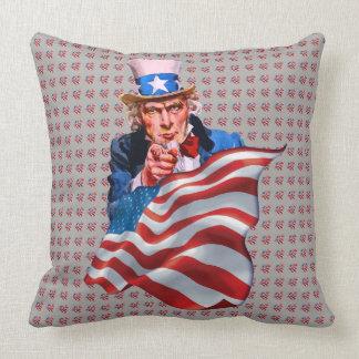Almofada Tio Sam e bandeira americana