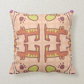 Almofada Travesseiro abstrato da arte do cão
