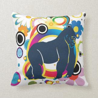 Almofada Travesseiro abstrato do gorila