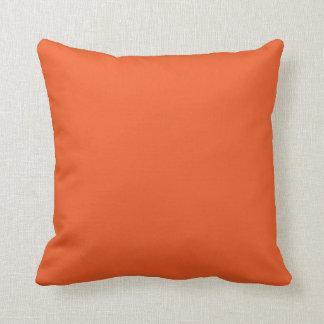 Almofada Travesseiro alaranjado liso do Dia das Bruxas