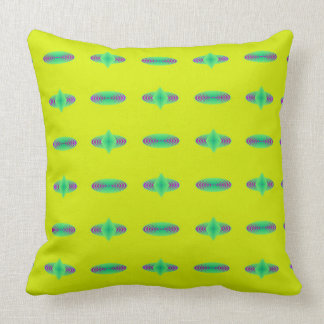 Almofada Travesseiro amarelo e verde das espirais