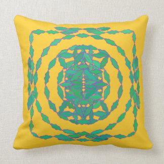 Almofada Travesseiro azul e verde amarelo
