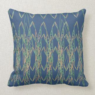 Almofada Travesseiro azul e verde dos laços