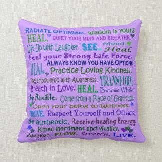 Almofada travesseiro cura da arte das palavras