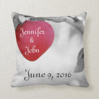 Almofada Travesseiro da data do casamento, travesseiro do