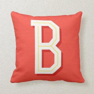 805801c3f Almofada Travesseiro da letra B do monograma