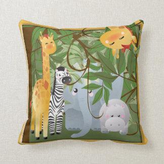 Almofada Travesseiro da sala dos miúdos dos animais do