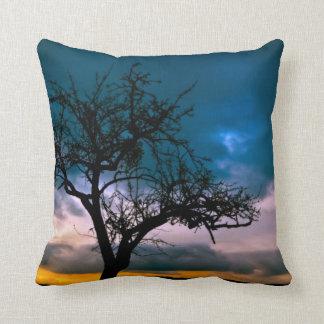 Almofada Travesseiro decorativo abstrato do por do sol da