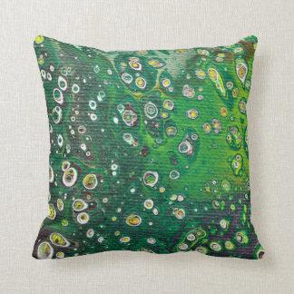 Almofada Travesseiro decorativo abstrato verde do design