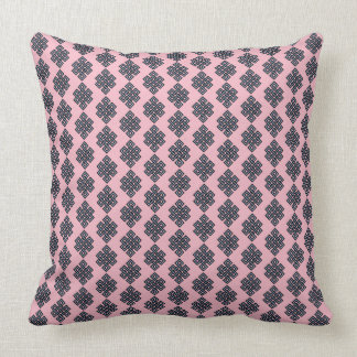 Almofada Travesseiro decorativo azul cor-de-rosa do nó