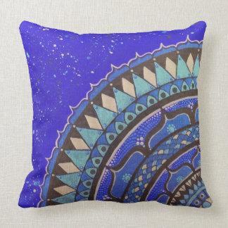 Almofada Travesseiro decorativo azul, preto, metálico