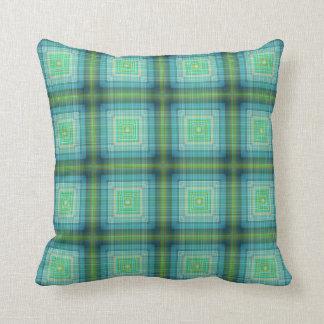 Almofada Travesseiro decorativo azul verde da casa de campo