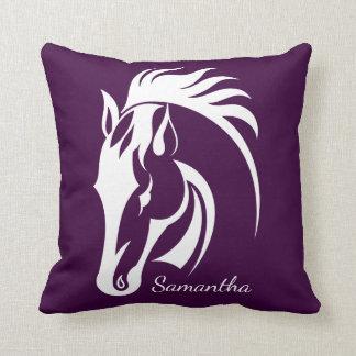 Almofada Travesseiro decorativo bonito do design do cavalo