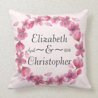 Almofada Travesseiro decorativo cor-de-rosa do casamento da
