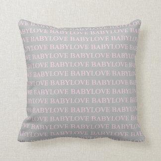 Almofada Travesseiro decorativo cor-de-rosa e cinzento do