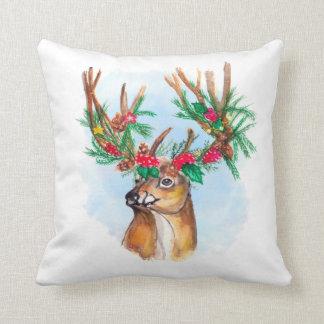 Almofada Travesseiro decorativo da rena do Natal da