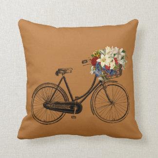 Almofada Travesseiro decorativo de cobre da flor da