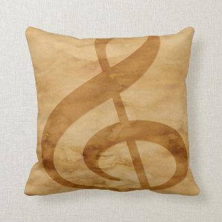 Almofada Travesseiro decorativo de Tan das notas musicais