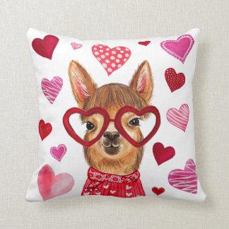 Almofada Travesseiro decorativo decorativo do amor do lama