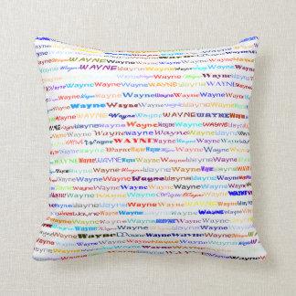 Almofada Travesseiro decorativo do design de texto II de
