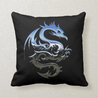 Almofada Travesseiro decorativo do dragão do cromo