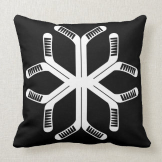 Almofada Travesseiro decorativo do floco de neve das varas