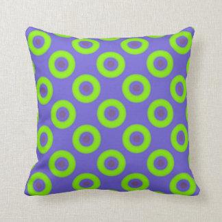 Almofada Travesseiro decorativo estranho verde Purplish