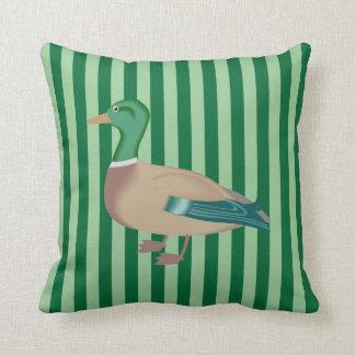 Almofada Travesseiro decorativo listrado verde do pato