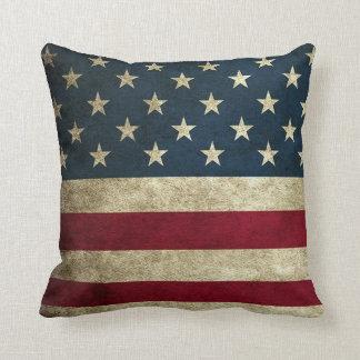 Almofada Travesseiro decorativo rústico da bandeira