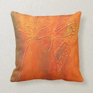 Almofada Travesseiro decorativo rústico da borboleta