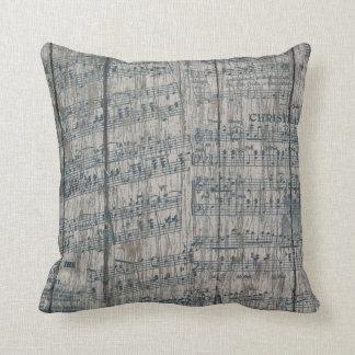 Almofada Travesseiro decorativo rústico da nota da música