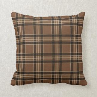 Almofada Travesseiro decorativo rústico da xadrez do