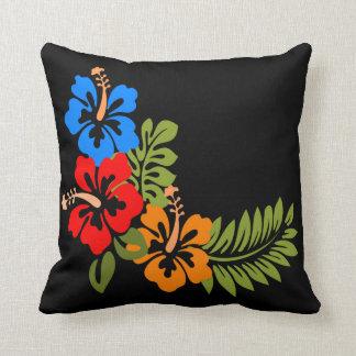 Almofada Travesseiro decorativo tropical da flor do verde