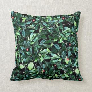 Almofada Travesseiro decorativo verde da folha