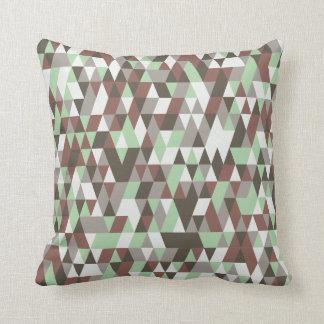 Almofada Travesseiro decorativo verde desvanecido do teste