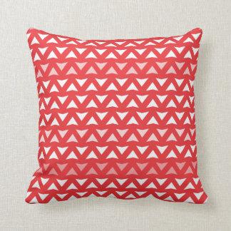 Almofada Travesseiro decorativo vermelho de Chevron