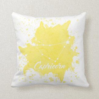 Almofada Travesseiro do amarelo do Capricórnio
