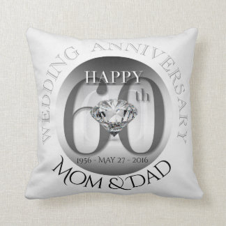 Almofada Travesseiro do aniversário de casamento do