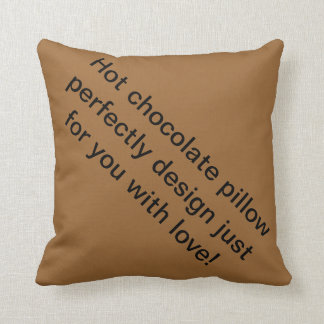 Almofada Travesseiro do chocolate quente com amor