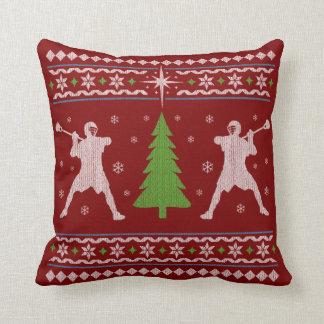 Almofada Travesseiro do Natal do Lacrosse - estilo da