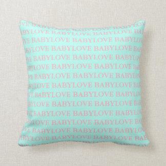 Almofada Travesseiro do rosa & da hortelã do amor do bebê