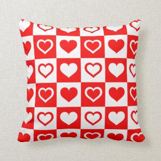 Almofada Travesseiro do teste padrão do tabuleiro de damas