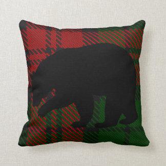 Almofada Travesseiro do urso do vermelho e do verde