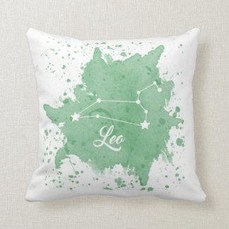 Almofada Travesseiro do verde de Leo