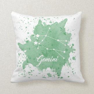 Almofada Travesseiro do verde dos Gêmeos