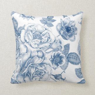 Almofada Travesseiro floral da decoração do vintage branco