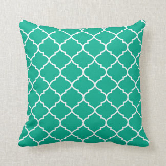 Almofada Travesseiro geométrico verde do teste padrão de