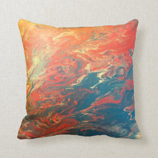 Almofada Travesseiro impetuoso do abstrato do por do sol